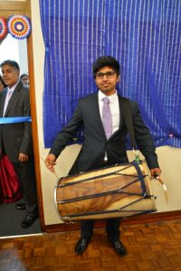 Shrenik Ajit Shah played the dhol.