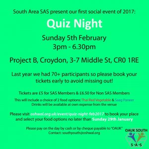 Quiz Night @ Project B | East Croydon | England | United Kingdom