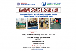 Enabling Sports & Social Club @ Preston Manor High School | Wembley | England | United Kingdom