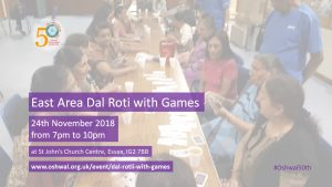 Dal Rotli with Games @ St John's Church Centre | England | United Kingdom