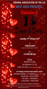 Valentine's Dinner and Dance @ Oshwal Centre | England | United Kingdom