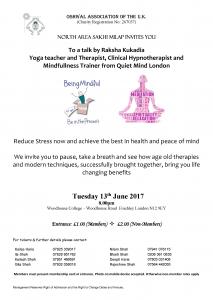 Mindfullness Talk @ Woodhouse College | England | United Kingdom