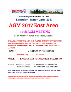 East Area Annual General Meeting @ St Albans Church Hall | England | United Kingdom