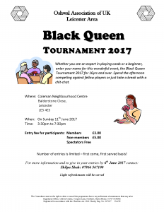 Black Queen Tournament 2017 @ Coleman Neighbourhood Centre | England | United Kingdom