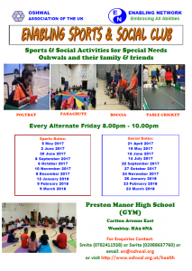 Enabling Sports & Social Club @ Preston Manor High School | England | United Kingdom