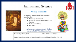 Lecture on Jainism and Science @ Oshwal Mahajanwadi | England | United Kingdom