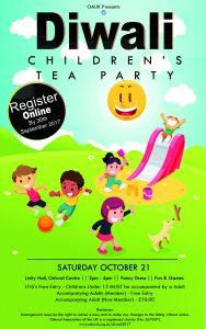 Children's Diwali Afternoon Tea Party @ Unity Hall, Oshwal Centre | Cuffley | England | United Kingdom