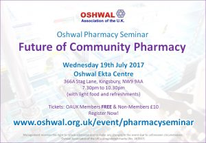 Oshwal Pharmacy Seminar @ Oshwal Ekta Centre | England | United Kingdom