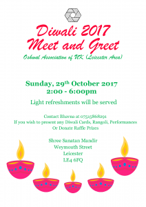 Diwali Meet and Greet @ Leicester @ Shree Sanatan Mandir | England | United Kingdom