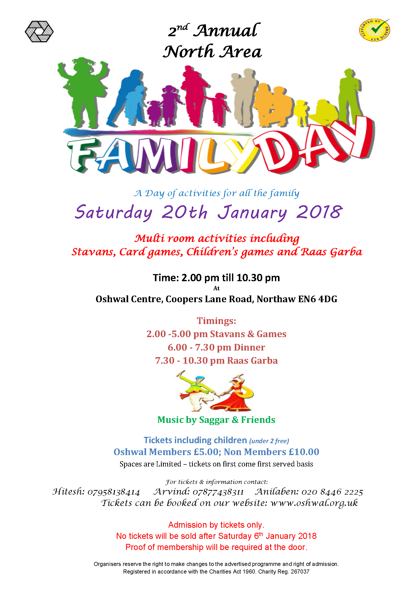 Family Day CANCELLED   Oshwal Association of the U K