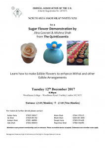 Sugar Flower Demonstration @ Woodhouse College | England | United Kingdom