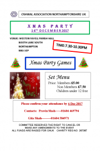 Northants XMAS Party @ WESTON FAVELL PARISH HALL | England | United Kingdom