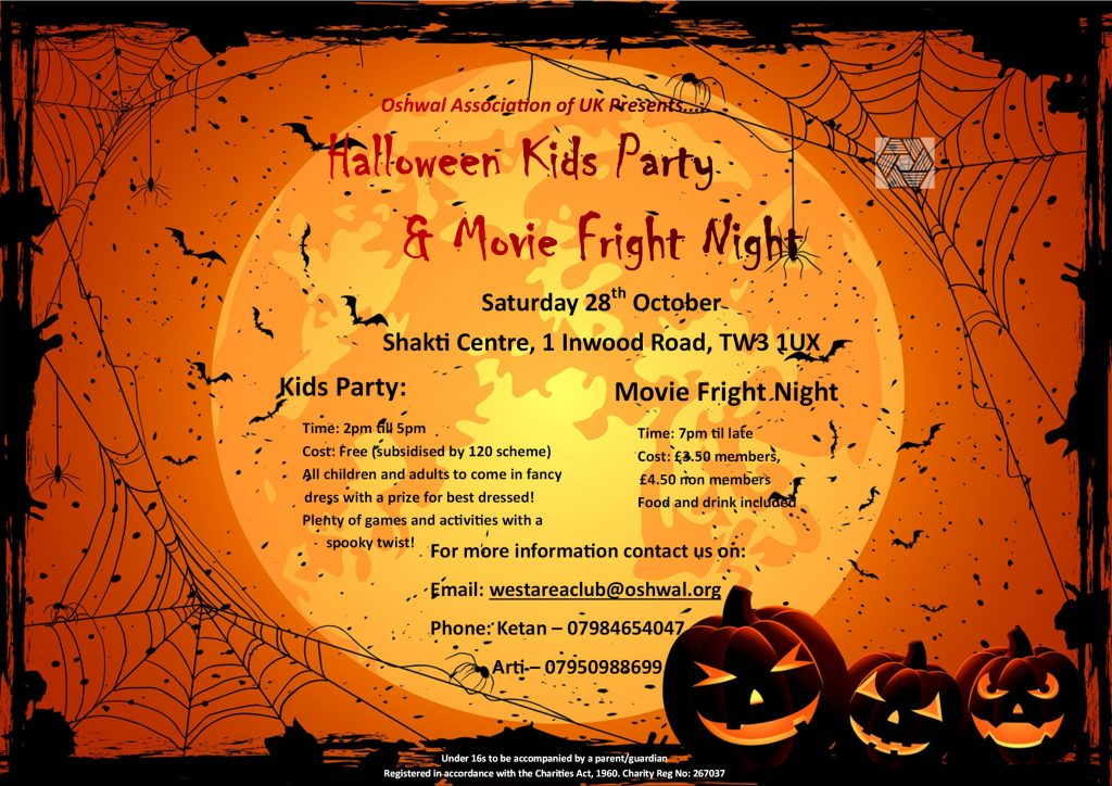 Halloween Kids Party @ Shakti Centre @ Oshwal Shakti Centre | England | United Kingdom