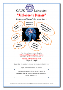 Alzheimer's Talk @ Coleman Neighbourhood Centre | England | United Kingdom