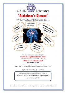 Alzheimer's Talk @ Coleman Neighbourhood Centre | England | United Kingdom