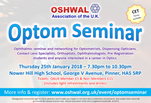 Optom Seminar @ Nower Hill High School | England | United Kingdom