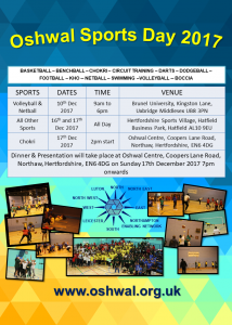 Oshwal Sports Day 2017 @ Brunel University | England | United Kingdom