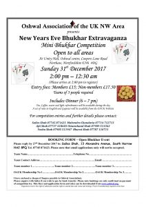 New Years Eve Bhukhar Extravaganza @ Oshwal Centre | Cuffley | England | United Kingdom