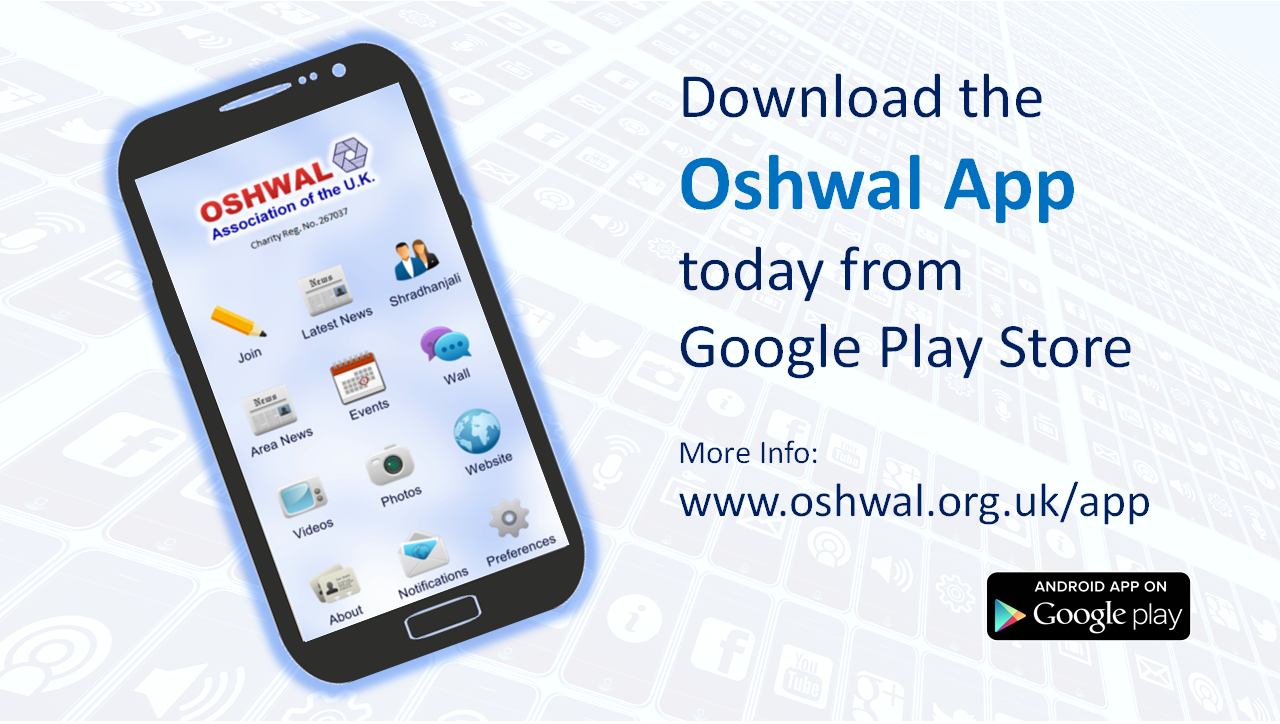 oshwal dating Note: this is not a medical event the stories and views shared at this event are that of the speaker and not of oshwal association of the uk.