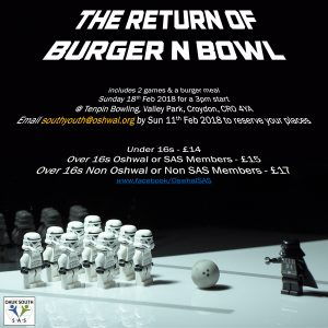 Burger & Bowl Poster - Sunday 18th Feb
