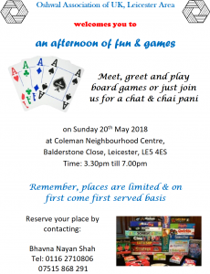 Leicester Meet and Greet @ Coleman Neighbourhood Centre | England | United Kingdom