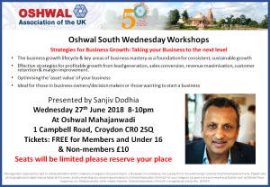 Strategies for Business Growth @ Oshwal Mahajanwadi | England | United Kingdom