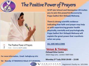The Positive Power of Prayers @ Oshwal Ekta Centre | England | United Kingdom