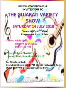 Gujarati Variety Show @ Oshwal Shakti Centre | England | United Kingdom