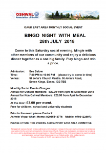Bingo Night with Meal @ St John's Church Centre | Ilford | England | United Kingdom