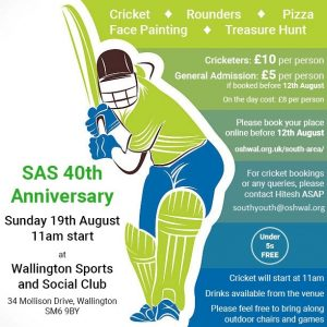 SAS 40th Anniversary @ Wallington Sports & Social Club | England | United Kingdom