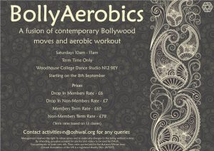 North Area Saturday BollyAerobics @ Woodhouse College - Dance Studio