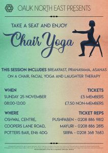 North East Chair Yoga @ Oshwal Centre | United Kingdom