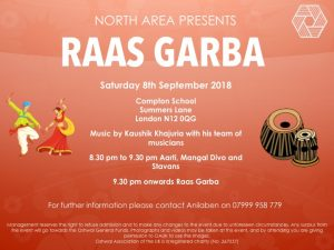 Garba and Staavans with Kaushik Khajuria @ Compton School | England | United Kingdom