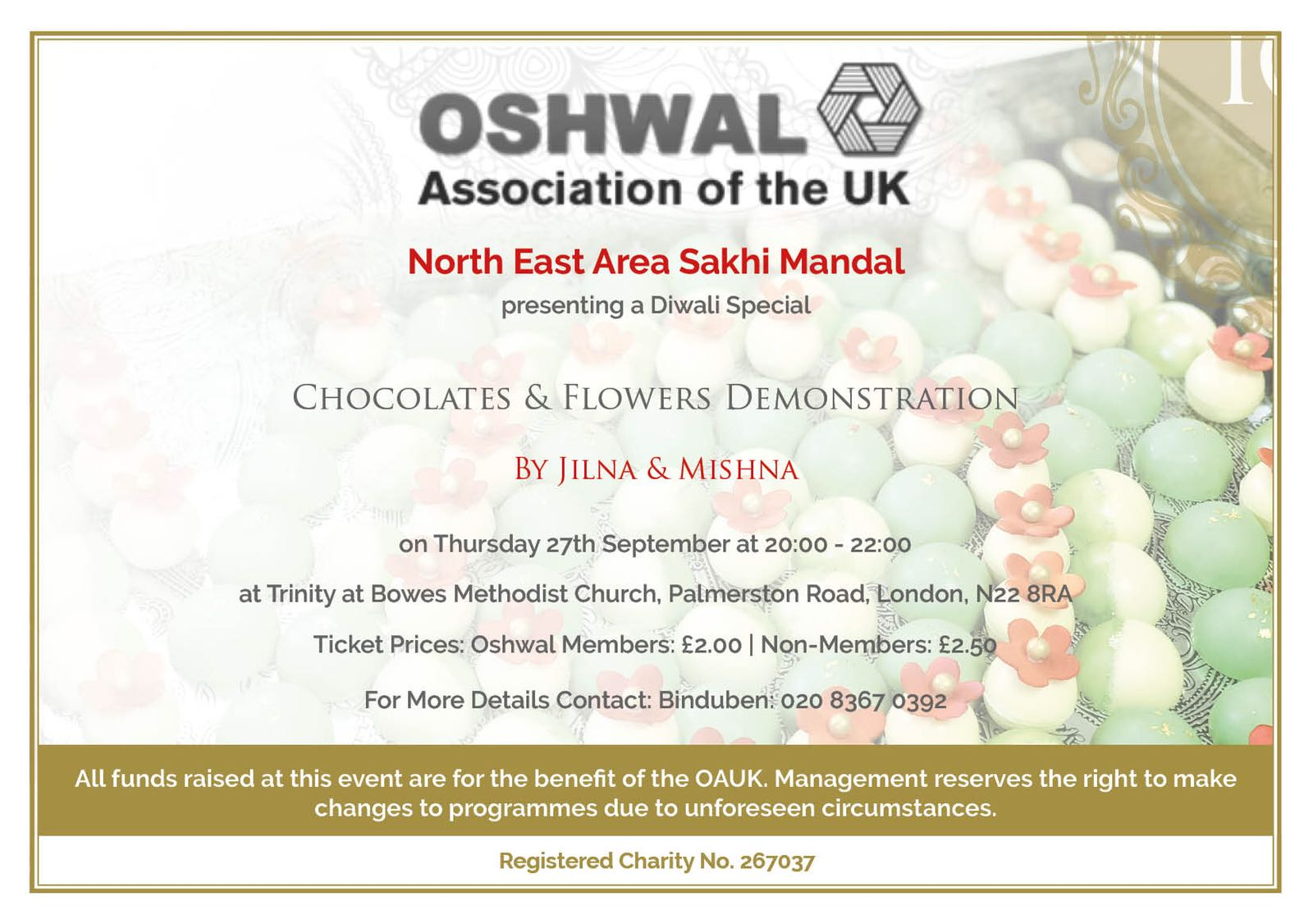 North East Chocolates and Flowers Demonstration