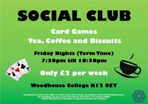North Area Friday Social Club @ Woodhouse College – Foyer
