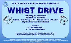 North Area Whist Drive @ Woodhouse College