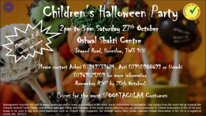Children's Halloween Party @ Oshwal Shakti Centre
