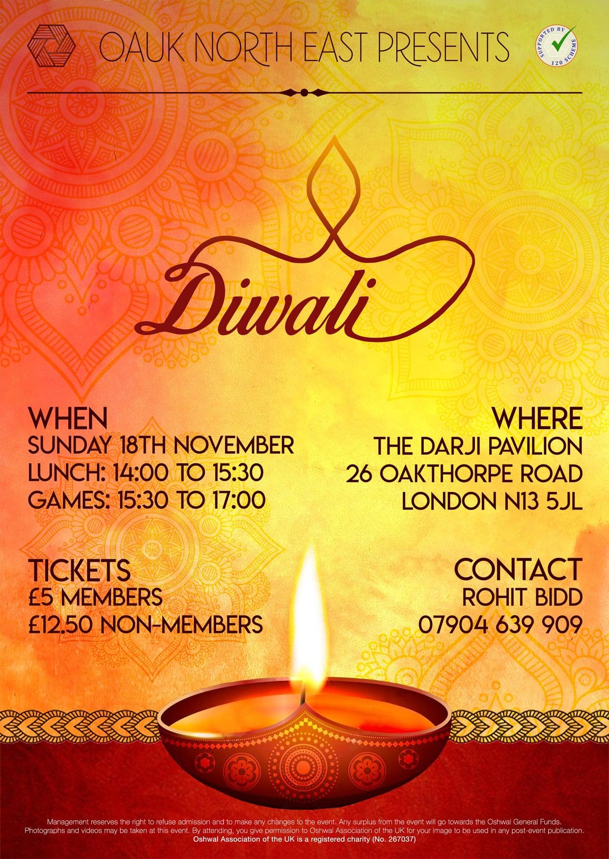 NE Diwali poster