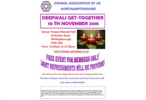 Northampton Diwali 2018 @ Pravasi Mandal Hall | England | United Kingdom