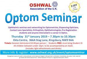 Optom Seminar 2019 @ Oshwal Ekta Centre | England | United Kingdom