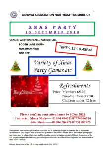 Northampton Xmas Party @ WESTON FAVELL PARISH HALL | England | United Kingdom