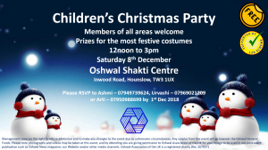 Children's Christmas Party @ Oshwal Shakti Centre | England | United Kingdom