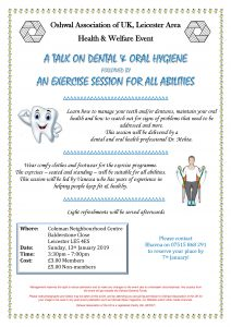 Talk on Dental & Oral Hygiene @ Coleman Neighbourhood Centre