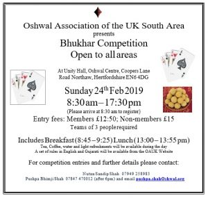 Bhukhar Competition 2019 @ Oshwal Centre