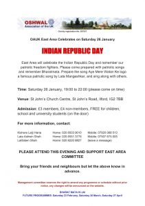 East Area Indian Republic Day