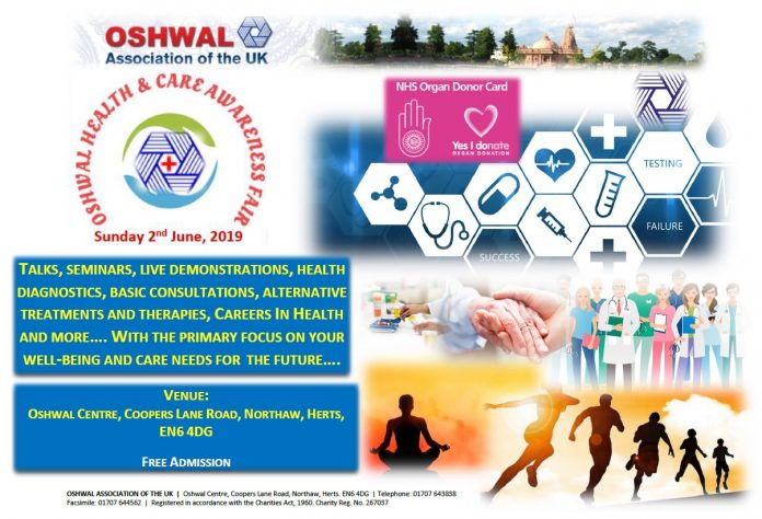 Oshwal Health & Care Awareness Fair