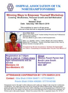 Winning Ways to Empower Yourself Workshop @ Weston Favell Parish Hall