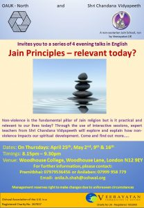 Jain Principles - relevant today? @ Woodhouse College