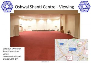 South Property Viewing - Windmill Rd @ Oshwal Shanti Centre