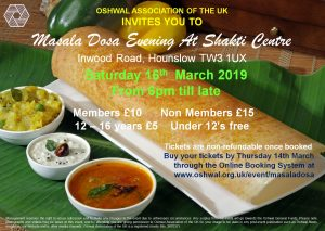 Masala Dosa Evening @ Oshwal Shakti Centre